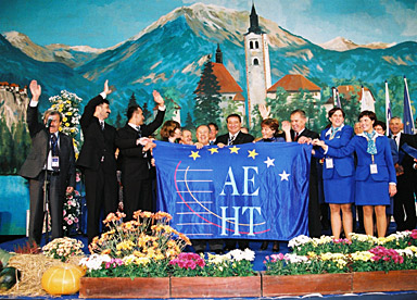 The AEHT flag is handed from Bled to Anatlya – an important occasion during the evening