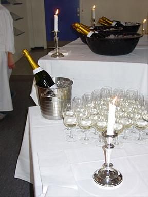 Le « Prosecco » pétillant et frais ą souhait attend les amateurs…nombreux !